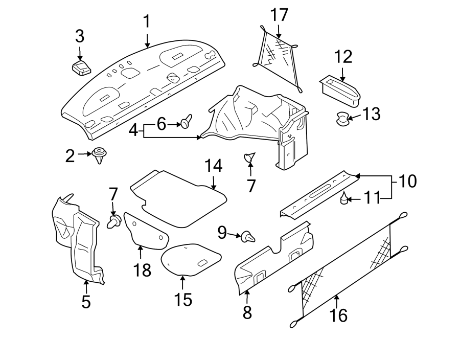 Nissan Altima Trunk Trim Panel Clip. Type 1. PartQualifier