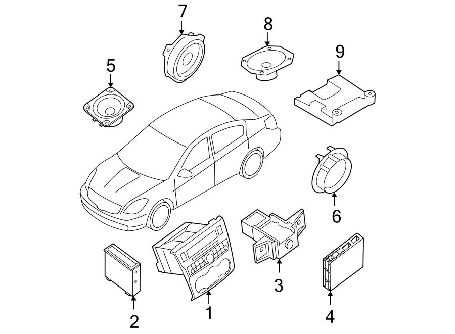 Nissan Altima Radio Control Unit. Auto, Blond, Trim