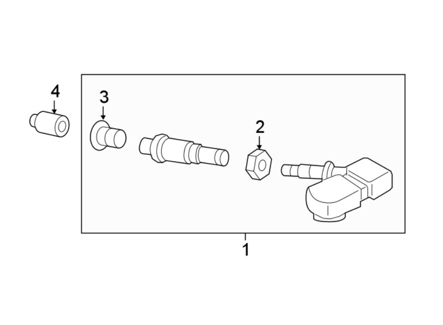 Nissan Maxima Tire Pressure Monitoring System Sensor Nut