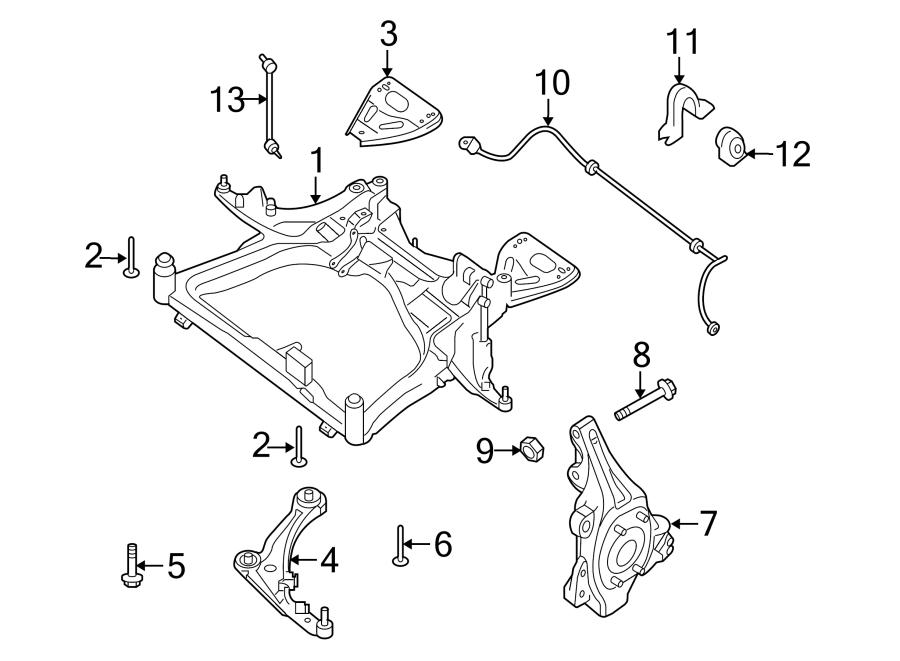 Nissan Altima Engine Cradle. 2.5 liter. Altima; 2.5L