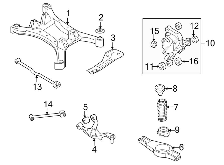 Nissan Altima Suspension Crossmember Reinforcement (Rear