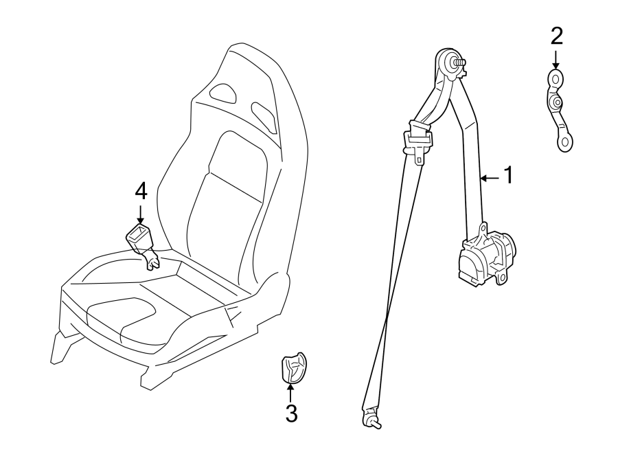Nissan GT-R Seat Belt Lap and Shoulder Belt. FRONT, Right