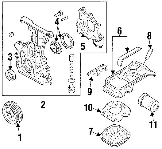 Nissan 200SX Engine Crankshaft Seal. LITER, BEARINGS, Pick