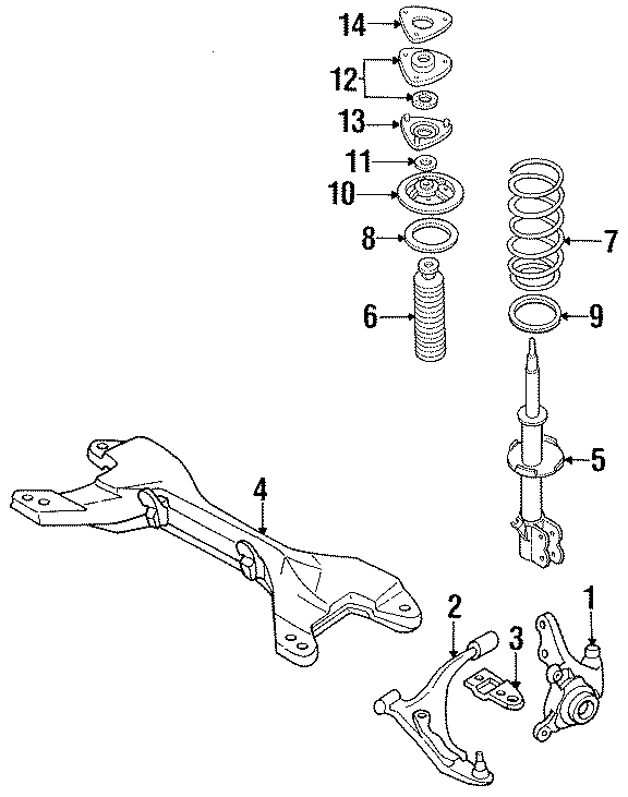 Nissan 200SX Suspension Strut Bumper. Right, Left, Make