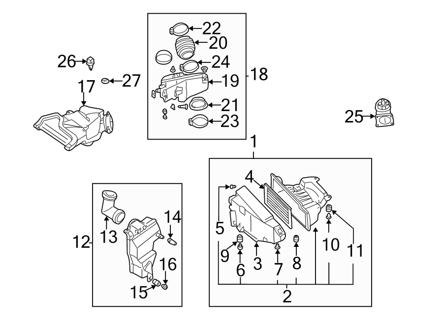 Nissan Maxima Engine Air Intake Resonator. 3.0 LITER