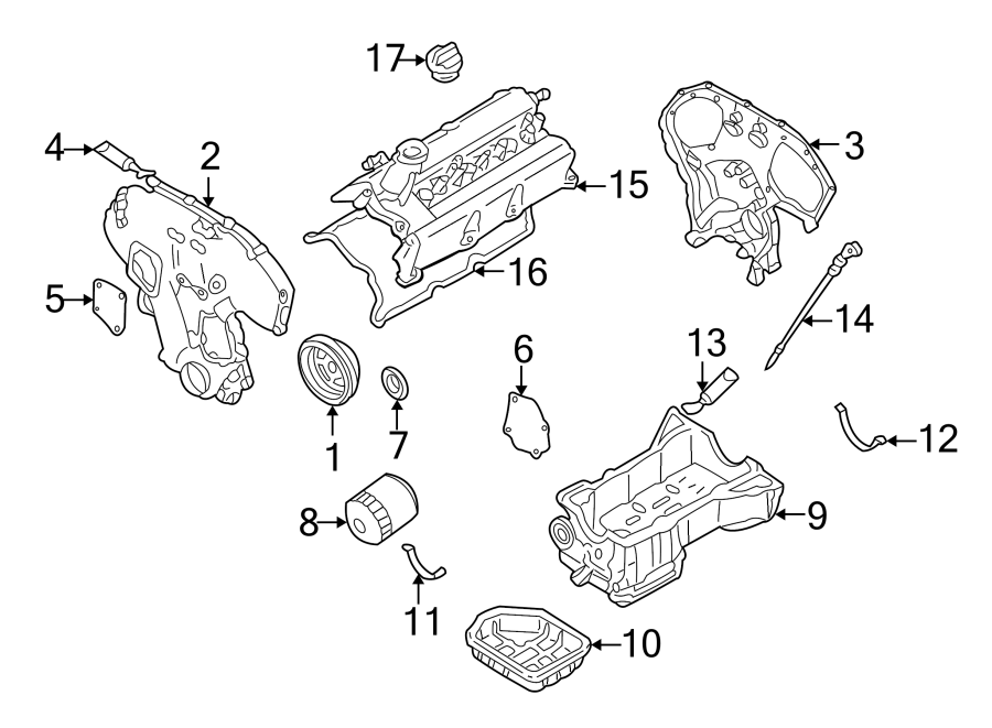 Nissan Maxima Engine Valve Cover Gasket. 3.0 LITER, rear