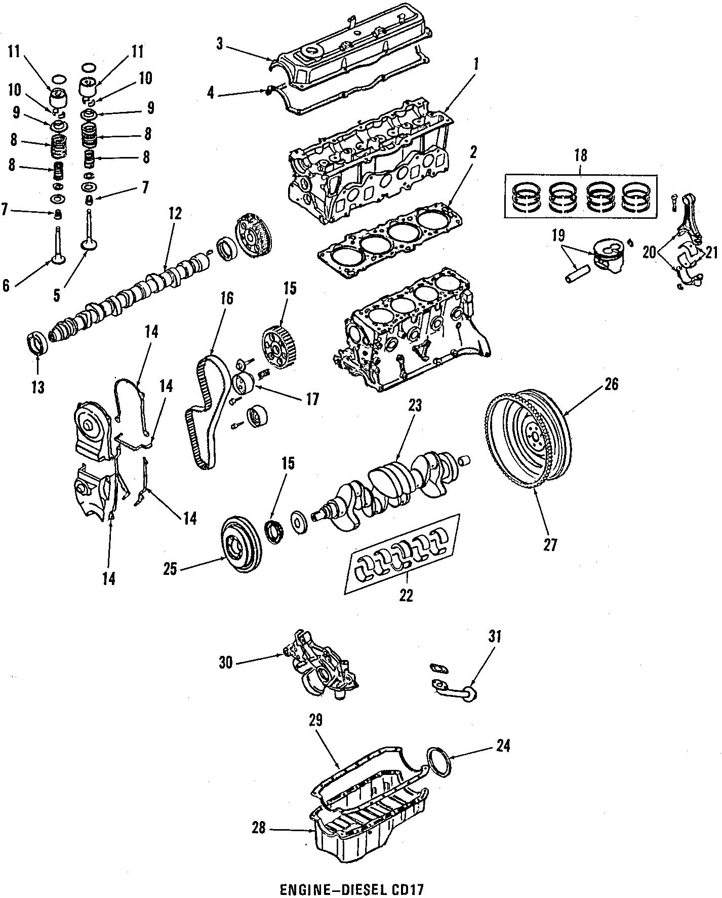Nissan Sentra Engine Valve Stem Oil Seal. Intake, Exhaust