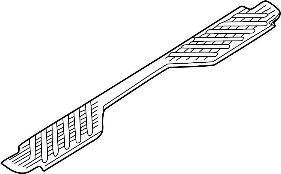 Nissan Frontier Bumper Step Pad. Upper pad. REAR