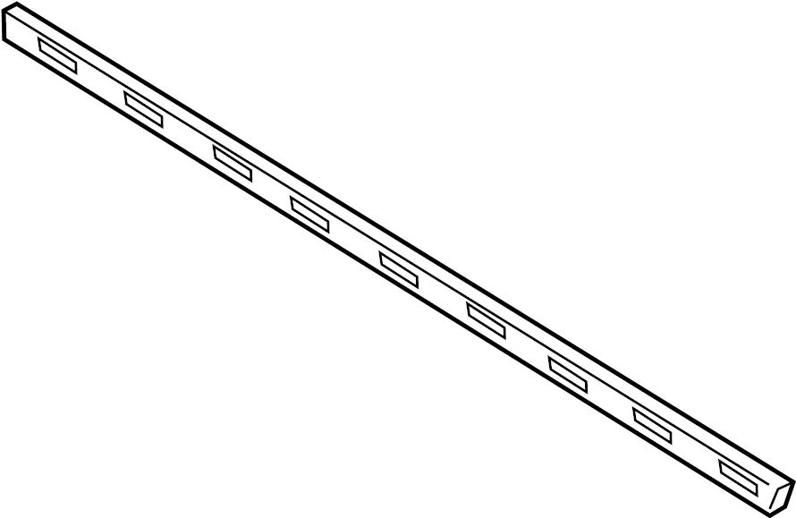Nissan Rogue Door Window Belt Weatherstrip. FRONT, Left