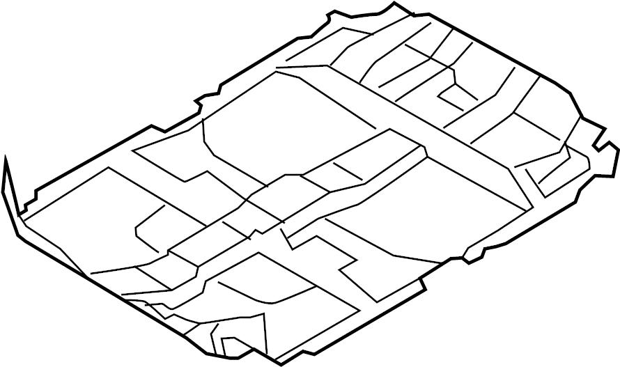 Nissan Murano Floor Carpet. Black. TRIM, ROCKER, PILLARS