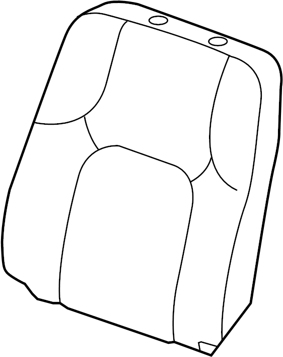 Nissan Frontier Seat Back Assembly. MANUAL, W/SIDE AIR BAG