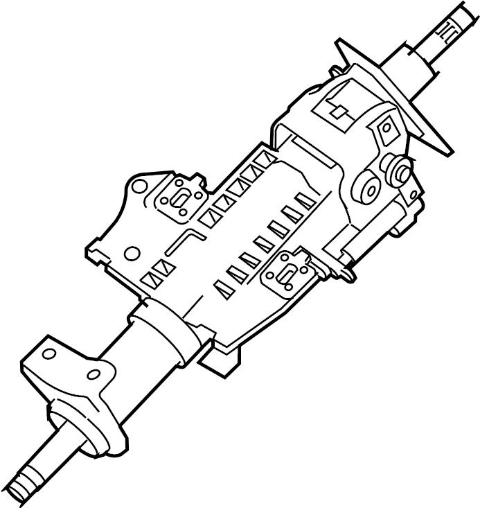 Nissan Frontier Steering Column. Frontier; w/Tilt; 2.5L; w