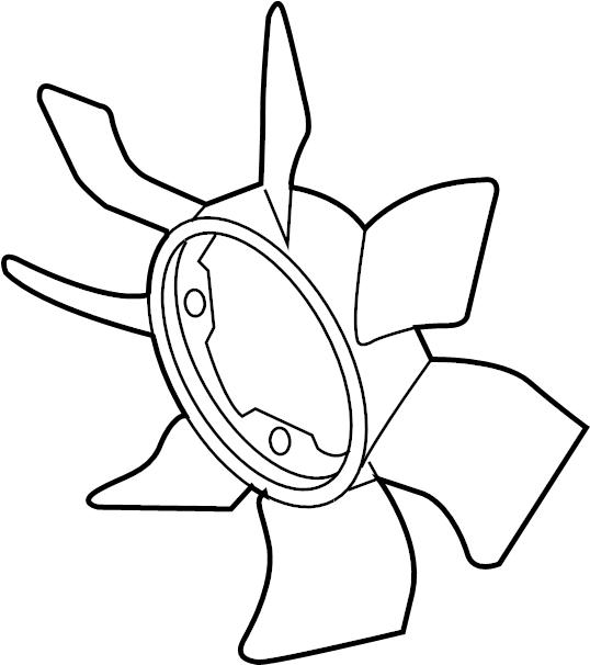 Nissan Frontier Engine Cooling Fan Clutch Blade. LITER