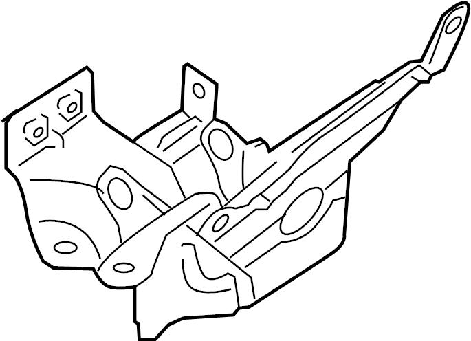 Nissan Xterra Abs modulator bracket. 4.0l. Components