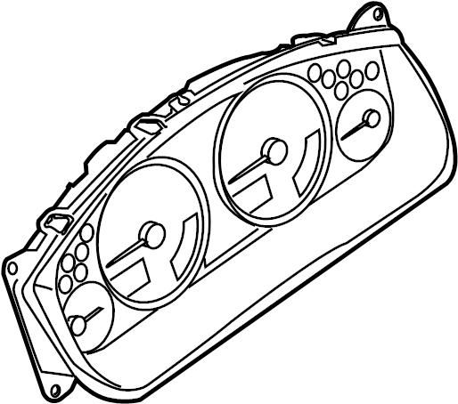 Nissan Xterra Instrument Cluster. Trans, Manual