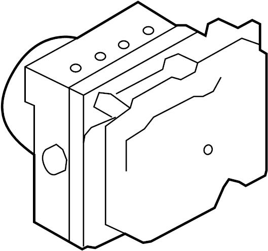 Nissan Cube Abs. Modulator. Actuator. Auto trans. Cube