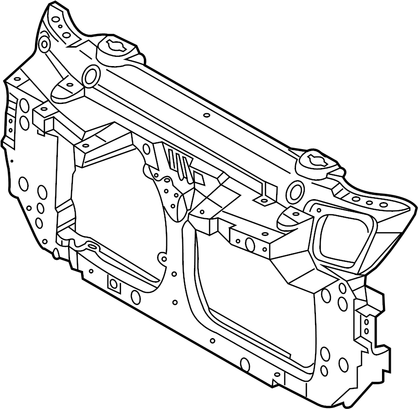Nissan 350Z Radiator Support Panel. CONVERTIBLE, from 11