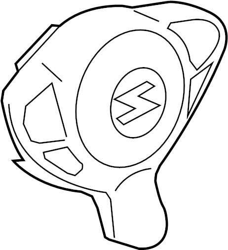 Nissan 370Z Steering Wheel Air Bag. Inflator, Navigation