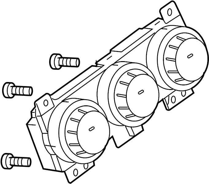 Nissan Sentra Hvac temperature control panel. Sentra