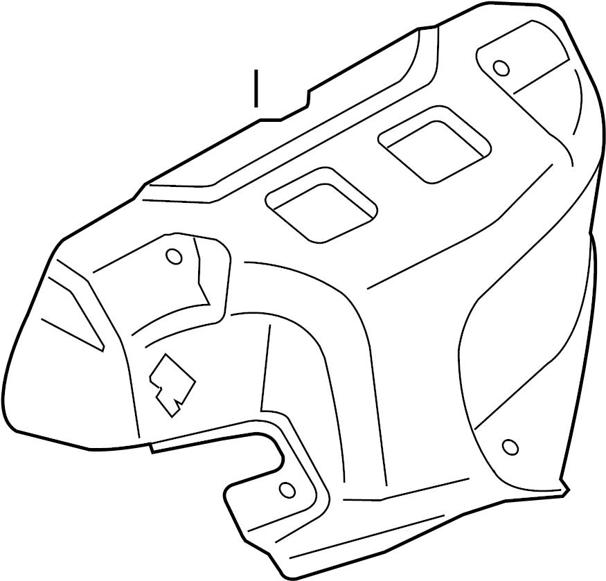 Nissan Sentra Shield. Heat. Exhaust. Manifold. Connector
