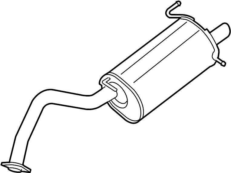Nissan Sentra Exhaust Muffler. 1.8 LITER, w/o chrome tip