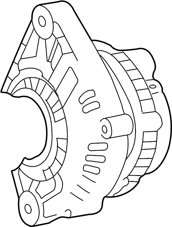Nissan Altima Alternator. Pulsar, FRONT, REAR