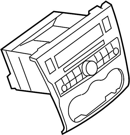 Nissan Altima Radio Control Unit. Charcoal, Audio, Bose