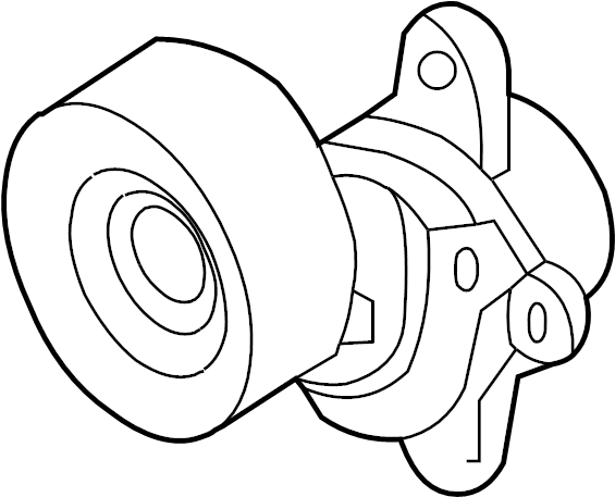 Nissan Maxima Accessory Drive Belt Tensioner Assembly