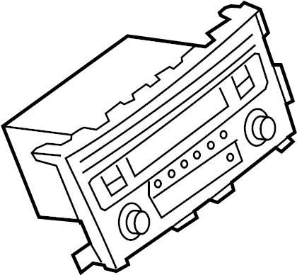 Nissan Altima Radio Control Unit. SL. SYSTEM, SOUND, PANEL
