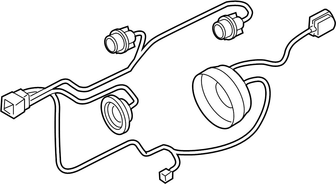 Nissan Maxima Headlight Wiring Harness. 2007-08. FRONT