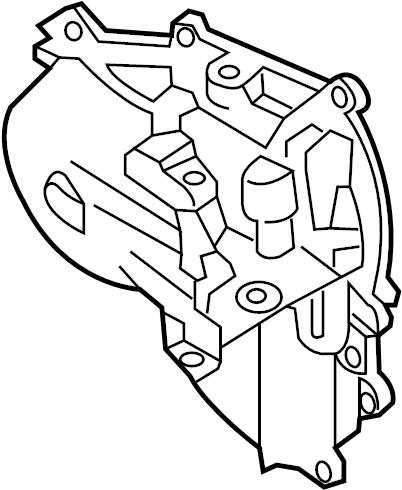Nissan Pathfinder Engine Timing Cover. LITER, Left