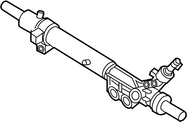 Nissan Maxima Rack and Pinion Assembly. STEERING, Gear
