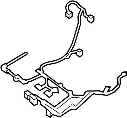 Nissan Maxima Power Seat Wiring Harness. W/heated, w/o