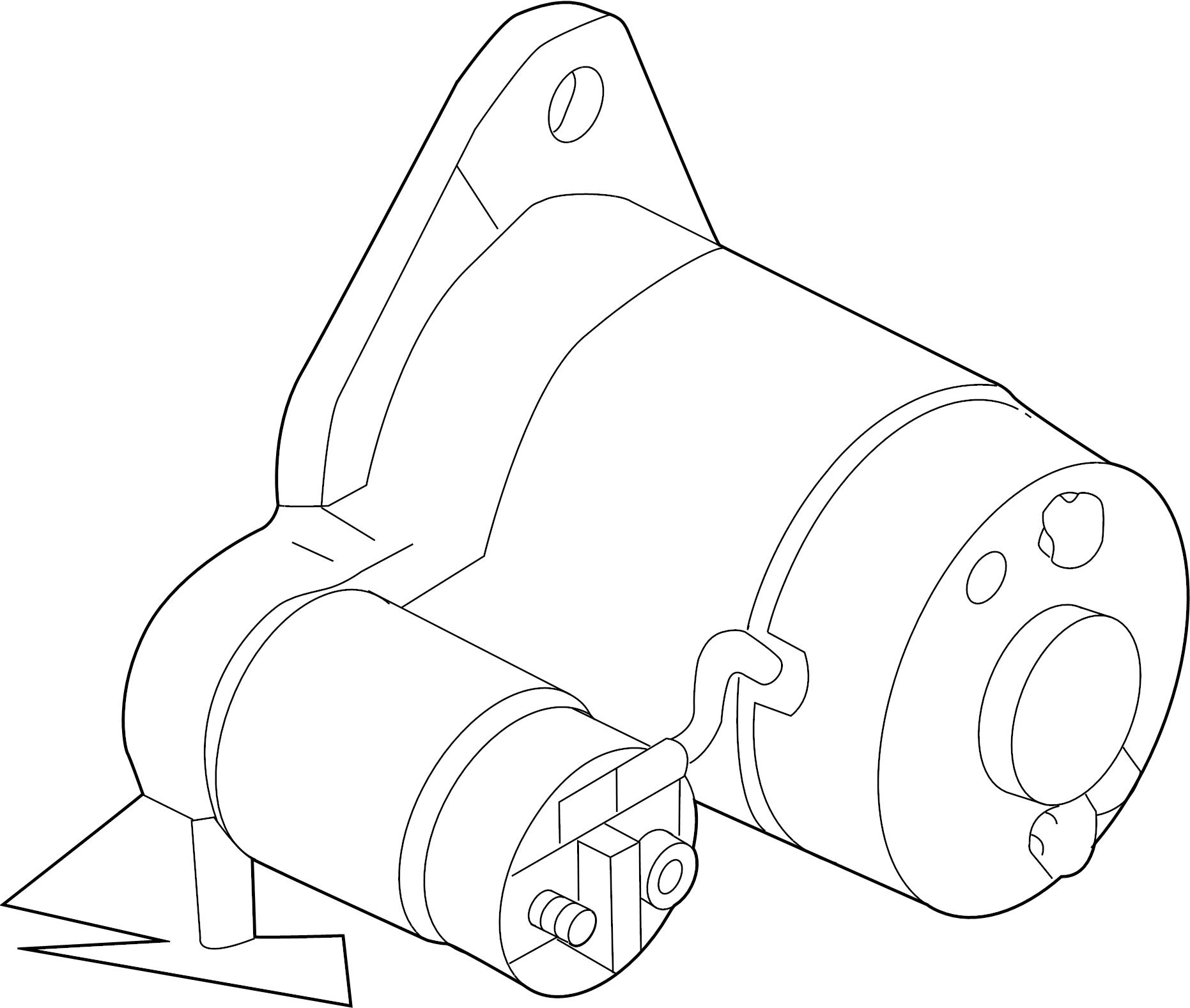 Nissan Altima Starter Motor. Liter, Trans, Manual