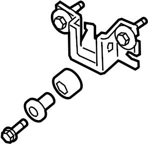 Nissan Altima Power Steering Pump Reservoir Bracket. COUPE