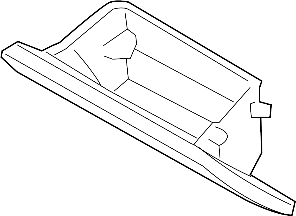 Nissan GT-R Glove Box Door. PANEL, INSTRUMENT, Front, Body