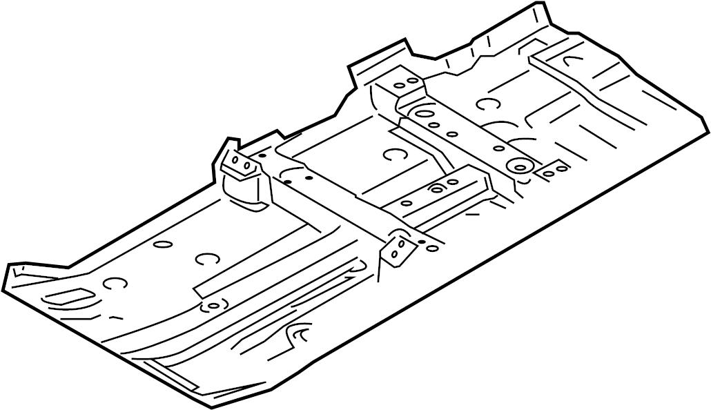 Nissan Versa Note Floor Pan. HATCHBACK, all. Left, Front