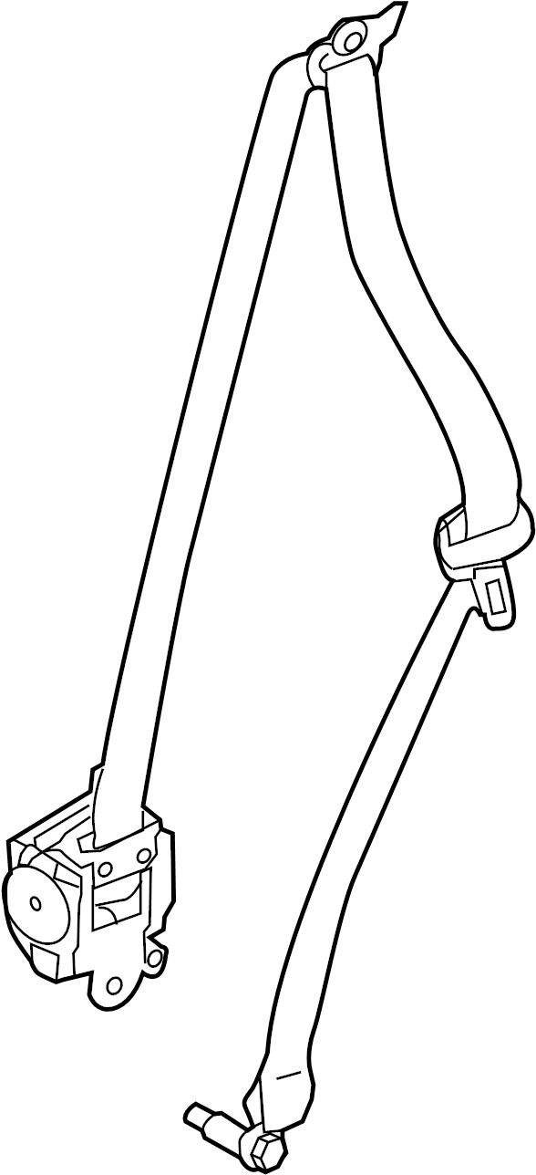 Nissan Armada Seat Belt Lap and Shoulder Belt. Graphite. W