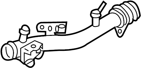 Nissan 350Z Engine Coolant Bypass Pipe. Water