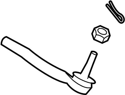 Nissan 370Z Steering Tie Rod End. Left, Right, HYBRID
