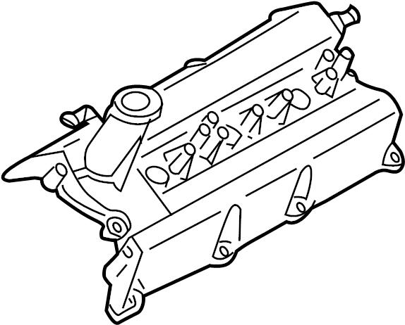 Nissan 350Z Engine Valve Cover. Left, LITER, BEARINGS