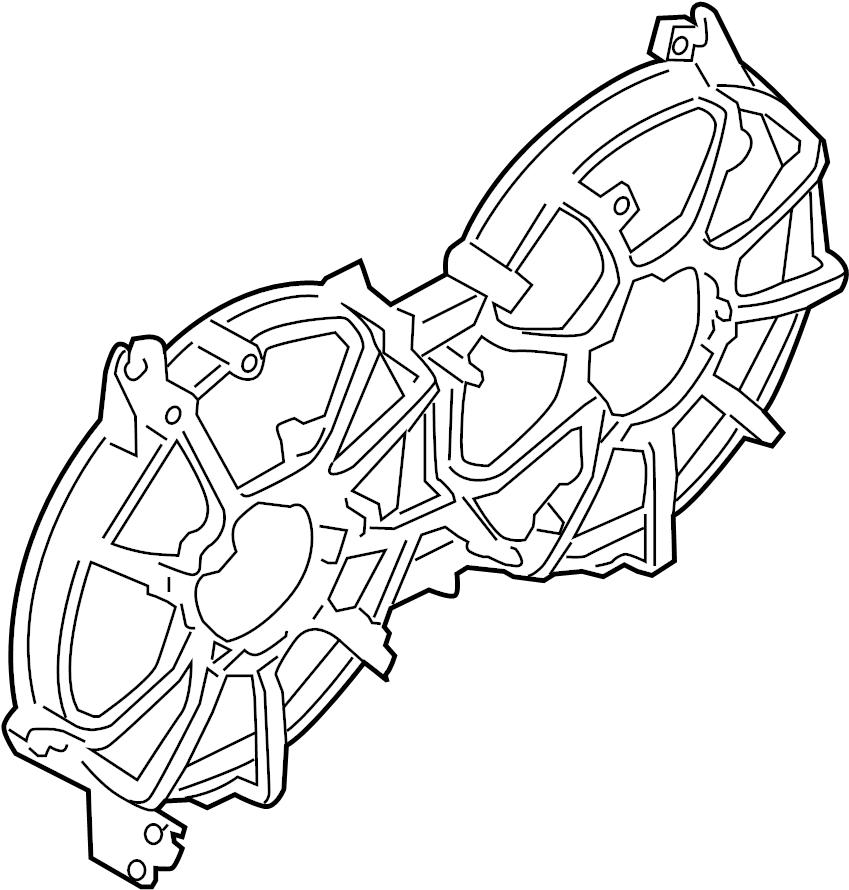 Nissan 370Z Engine Cooling Fan Shroud. LITER, Make