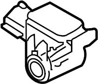 Nissan 370Z Air Bag Impact Sensor. Front, Crash