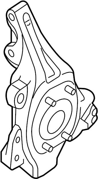 Nissan Pathfinder Steering Knuckle. SUSPENSION, Left