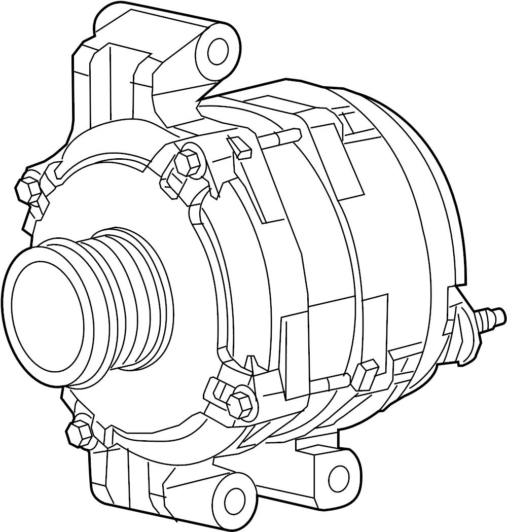 Nissan Sentra Alternator. Pulsar, FRONT, Rear