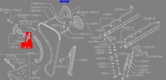Timing Chain Tensioner Gasket SR20DET, SR20DE Engines