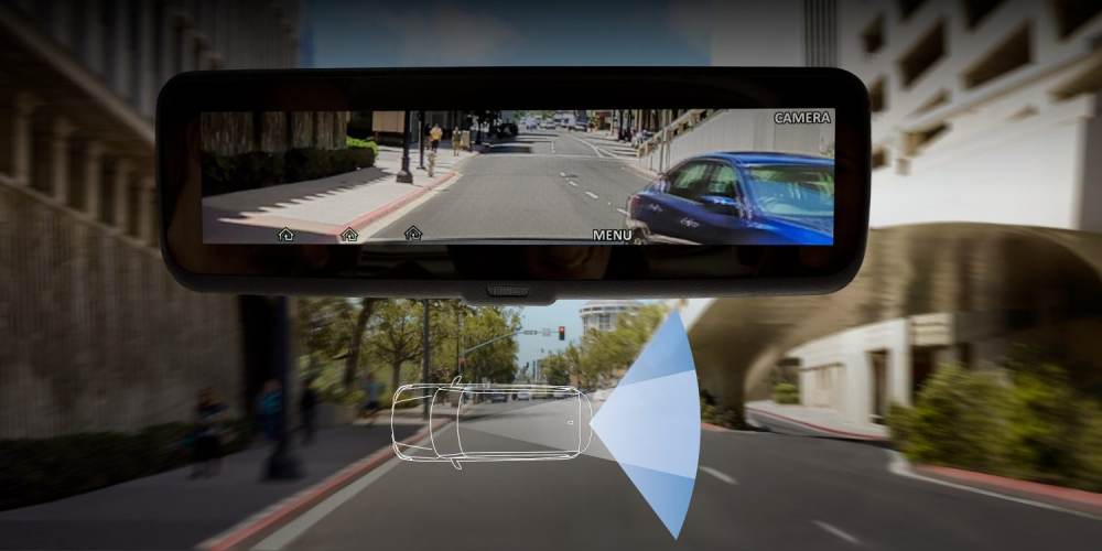 medium resolution of nissan armada technology showing intelligent rearview mirror