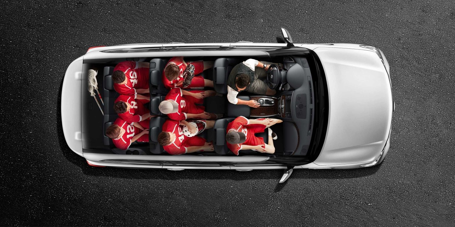 hight resolution of nissan armada seating with roof cutaway showing seating for eight