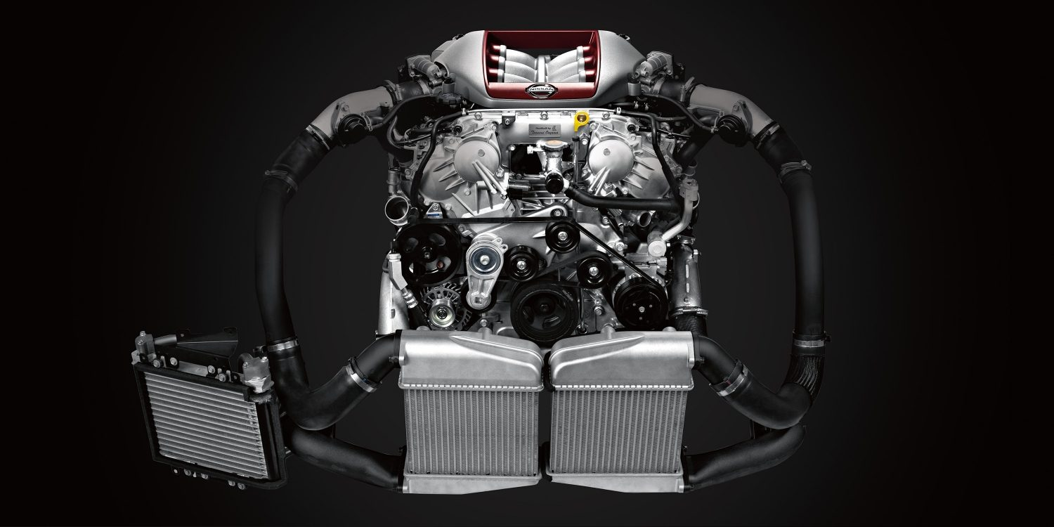hight resolution of nissan gt r vr38 twin turbo engine