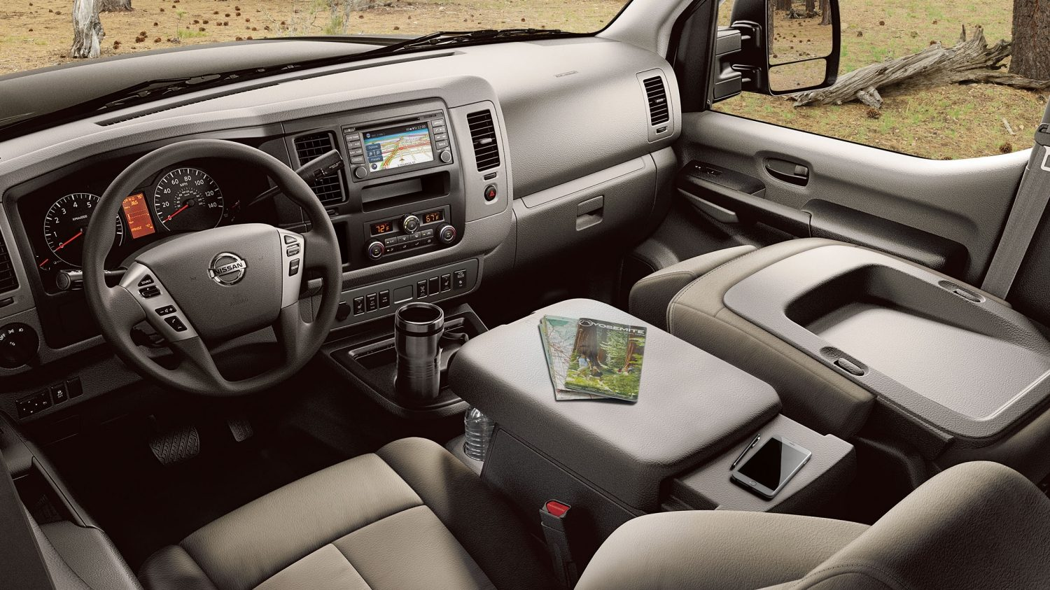 hight resolution of nissan nv passenger interior showing large space